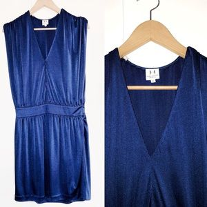 Halston Heritage Dress Royal Blue V-Neck Sheath